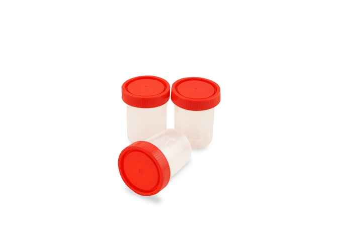 Universal container, red screw cap