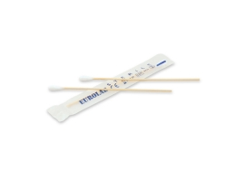Cotton swab, bamboo stick + cotton