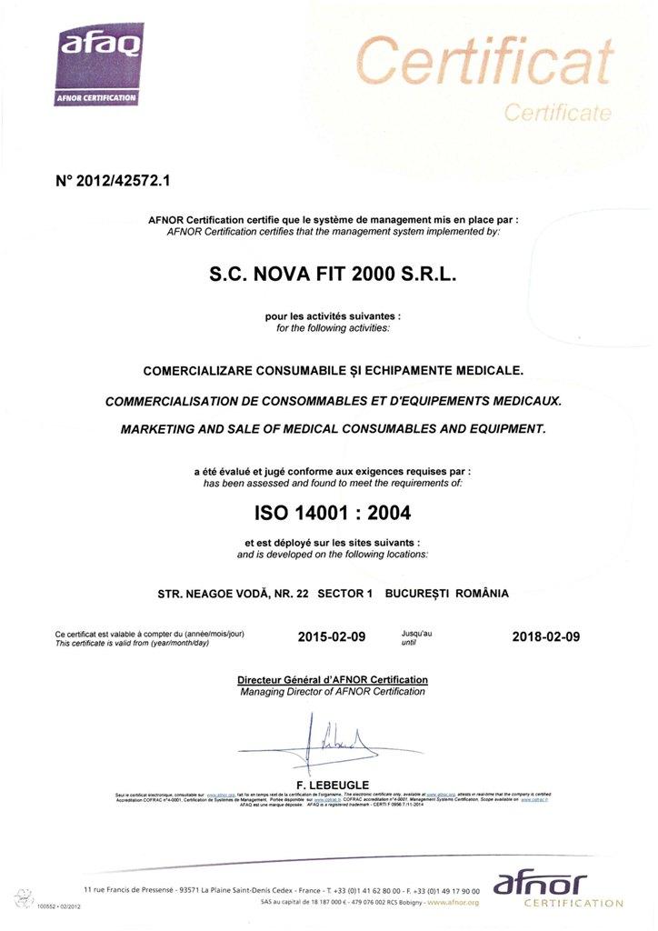 ISO NOVA FIT 14001