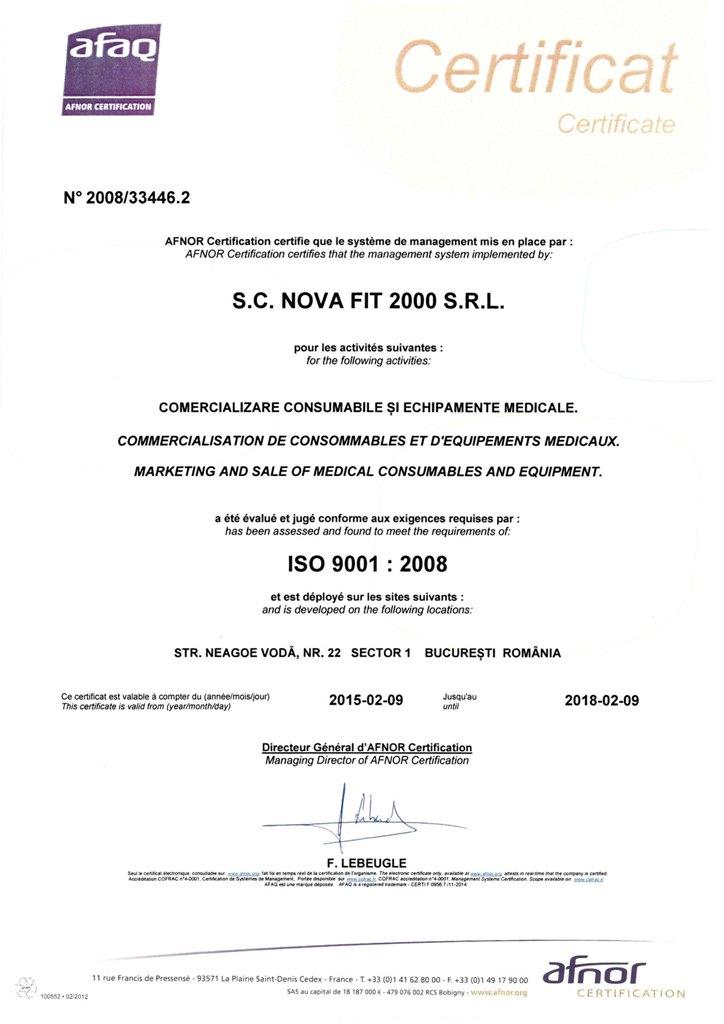 ISO NOVA FIT 9001